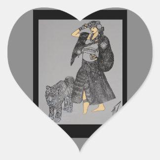 Princesa Walking de la estrella un arte mojado de Pegatina En Forma De Corazón
