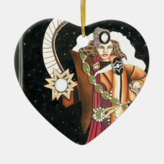 Princesa Warrior CricketDiane de la estrella de la Adorno De Cerámica En Forma De Corazón