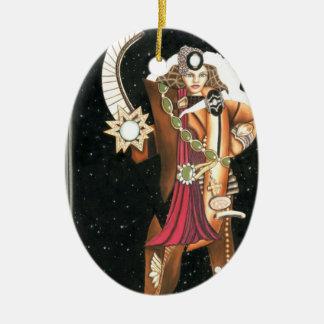 Princesa Warrior CricketDiane de la estrella de la Adorno Ovalado De Cerámica
