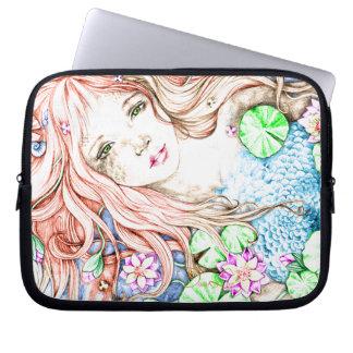 Princesa Watercolor de la sirena Manga Portátil