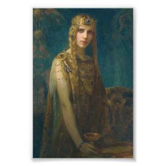 Princesa Wearing una corona Impresión Fotográfica