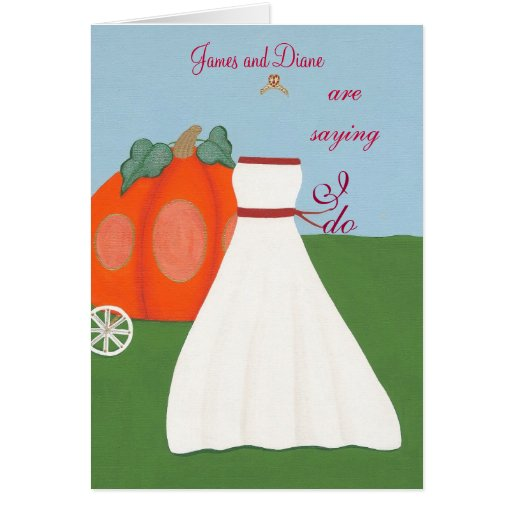 Princesa Wedding Pumpkin Carriage Invitations Tarjetas