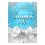 Princesa Winter Wonderland Blue Sweet 16 invita Invitacion Personal