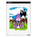 Princesa y caballeros en la mini piel del ipad del pegatinas skins para iPad 3