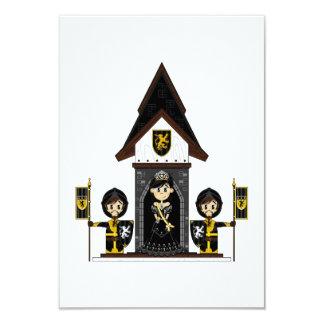 """Princesa y caballeros en la mini tarjeta de RSVP Invitación 3.5"""" X 5"""""""