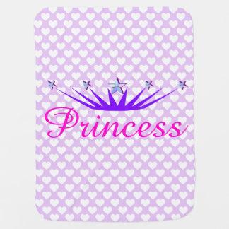 Princesa y corazones suaves de la lavanda mantita para bebé
