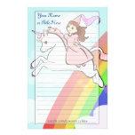 Princesa y efectos de escritorio del unicornio  papeleria de diseño