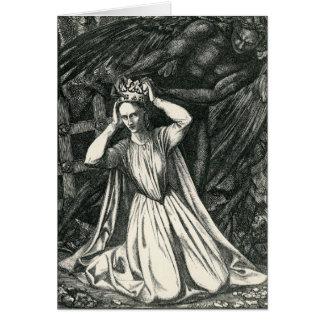 Princesa y el ángel oscuro tarjeta de felicitación