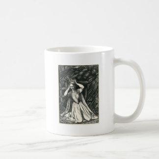 Princesa y el ángel oscuro taza de café