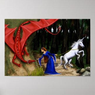 Princesa y el dragón 12 x poster 8