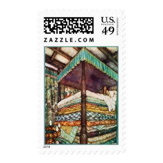 Princesa y el ejemplo del cuento de hadas del sello postal