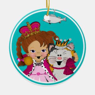Princesa y el gatito real ornamentos de reyes magos