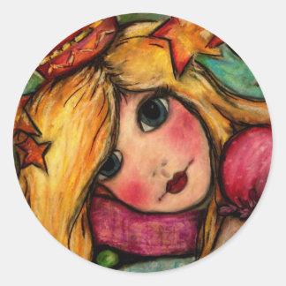 Princesa y el guisante pegatinas redondas