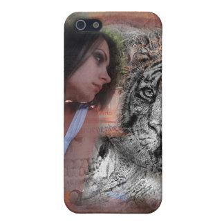 princesa y el tigre iPhone 5 carcasas