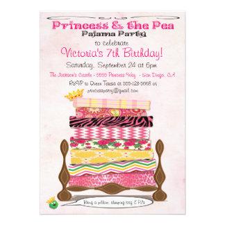 Princesa y la fiesta de cumpleaños del pijama del  comunicado personal