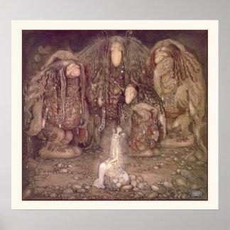 Princesa y los duendes de Juan Bauer Póster