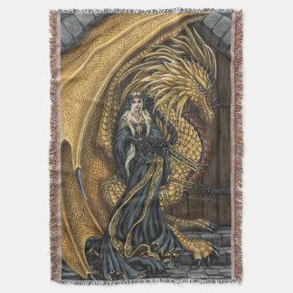 Princesa y manta ambarinas del tiro del dragón
