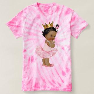 Princesa y perlas étnicas del bebé de la bailarina remera
