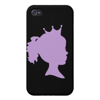 Princesa y regalos púrpuras de la silueta iPhone 4/4S funda