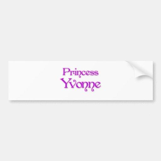 Princesa Yvonne Pegatina De Parachoque
