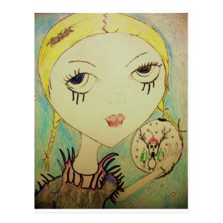 Princesa Zombie del navidad de la postal