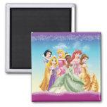 Princesas 10 de Disney Imán Cuadrado