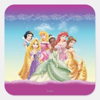 Princesas 10 de Disney Pegatina Cuadrada