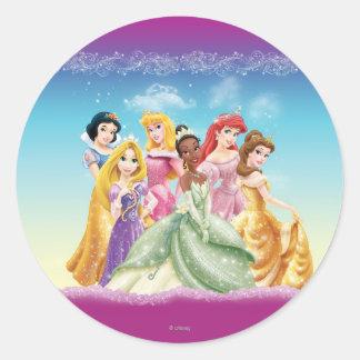 Princesas 10 de Disney Pegatina Redonda