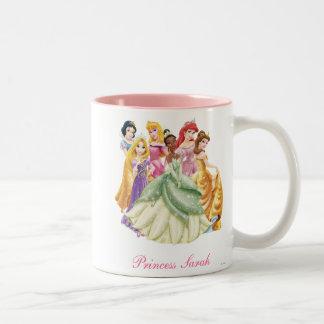 Princesas 10 de Disney Taza De Dos Tonos