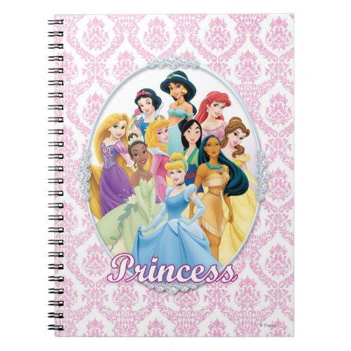 Princesas 11 de Disney Libros De Apuntes Con Espiral
