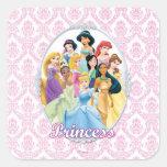 Princesas 11 de Disney Pegatina Cuadrada