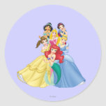 Princesas 11 de Disney Pegatina Redonda
