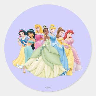 Princesas 12 de Disney Pegatina Redonda