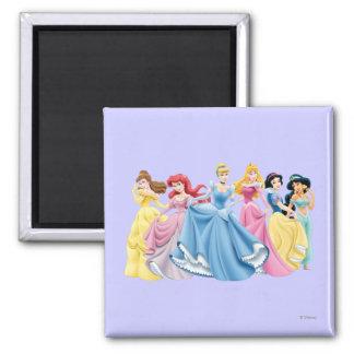 Princesas 13 de Disney Imán Cuadrado