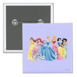 Princesas 13 de Disney Pin Cuadrada 5 Cm