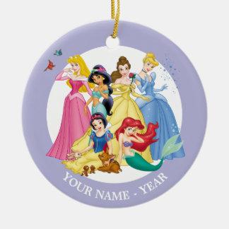 Princesas 3 de Disney Adorno Navideño Redondo De Cerámica