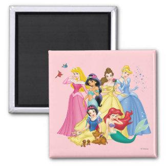Princesas 3 de Disney Imán Cuadrado