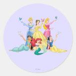 Princesas 4 de Disney Pegatina Redonda