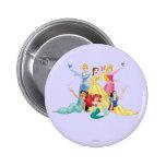 Princesas 4 de Disney Pin Redondo 5 Cm