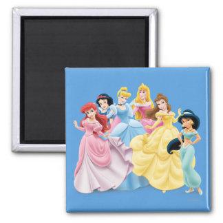 Princesas 7 de Disney Imán Cuadrado