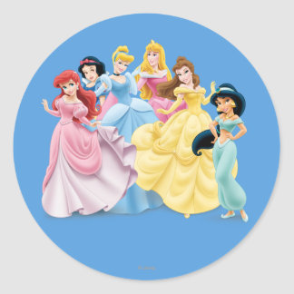 Princesas 7 de Disney Pegatina Redonda