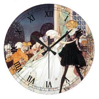 Princesas de baile del vintage doce de Kay Nielsen Reloj Redondo Grande