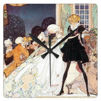 Princesas de baile del vintage doce de Kay Nielsen Reloj Cuadrado