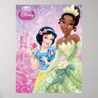 Princesas de Disney: Blanco como la nieve y Tiana Poster