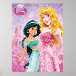 Princesas de Disney: Jazmín y aurora Poster