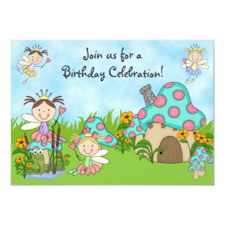 Princesas e invitación de hadas del cumpleaños del