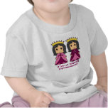 Princesas gemelas camisetas