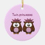 princesas gemelas del búho ornamento para reyes magos