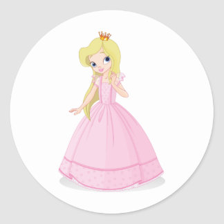 princess 02 classic round sticker