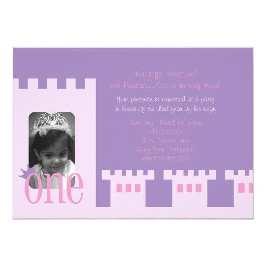 Princess 1st birthday party invite